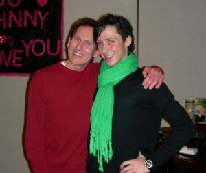I enjoyed meeting Johnny Weir at a fan club gathering at the 2010 US Nationals, the second time Johnny qualified for the US Olympic team.
