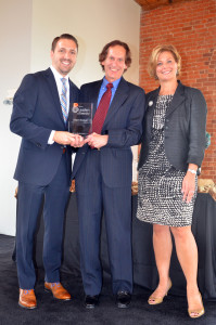 """I received a """"Leader in Diversity – Role Model"""" award from TBJ publisher Bryan M. Hamilton and PNC Bank Regional President Paula K. Fryland. (Photography courtesy of Triangle Business Journal   Dathan Kazsuk)"""