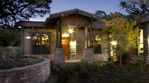 Fountaingrove Lodge, an LGBT retirement community in Sonoma, California has a main building with multiple units and individual homes like this beautiful bungalow