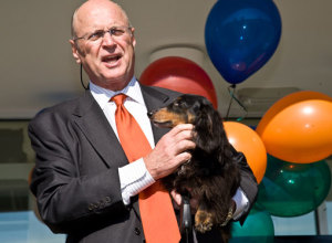 Harvey Schmitt has provided visionary leadership as President and CEO of the Greater Raleigh Chamber of Commerce since 1994.  (photo courtesy of suitepaws.com)