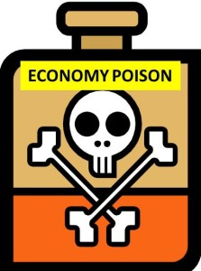What is the largest threat that is poisoning our economy?