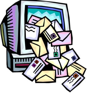 The barrage of junk e-mails is simply overwhelming!