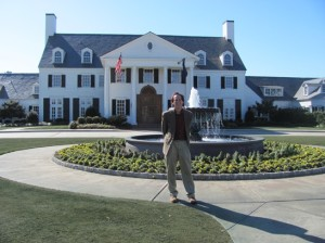 Outside of the beautiful and historic Pine Lakes Country Club in Myrtle Beach, SC, birthplace of Sports Illustrated Magazine, before speaking at the Coastal Organization of Human Resources.