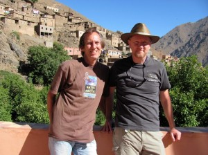 Blog author Stan Kimer (on the left) with his partner of 23 years Rich Roark on a recent vacation in Morocco.
