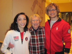 My mother meets 6-time US ice dance champions, Meryl Davis and Charlie White, who have an excellent chance to win an Olympic gold medal