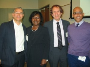 With the panel moderator and panelists at the NCBIO diversity event on March 26