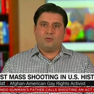 Nemat Sadat in his CNN interview with Christiane Amanpour, CNN's chief international correspondent, who's based in London and airs her nightly global affairs show that's broadcasted to 200 million households and hotel rooms around the world.