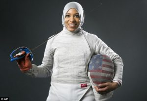 World Champion fencer Ibtihaj Muhammed will make history this summer as the first American to wear the traditional Muslim hijab while competing at the Olympics