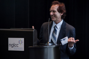 Blog author Stan Kimer making a point during his presentation on global leadership (photo by Abraham Saraya Photography)