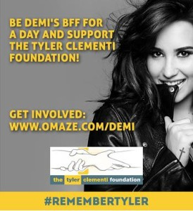 Current very exciting campaign / auction with the chance to meet superstar Demi Lovato