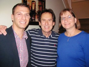 Blog author Stan Kimer (in the center) with Tyler Clementi Foundation Executive Director Sean Kosofsky and Tyler's mother and foundation co-founder Jane Clementi