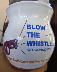 Kenya's Anti-Corruption Campaign has been giving away these cool coffee mugs - but are they serious about address corruption, or simply paying lip service?