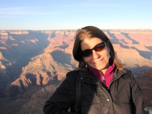 My British friend Cathy Swift on the South Rim of the Grand Canyon, where the interaction in this blog took place