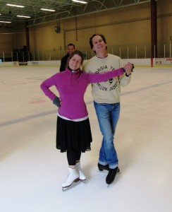 This year I once again attended the Dorothy Hamill Adult Figure Skating Camp, and my friend Cathy came over from England to attend with me!