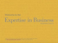 Expertise in Business Webinar Series