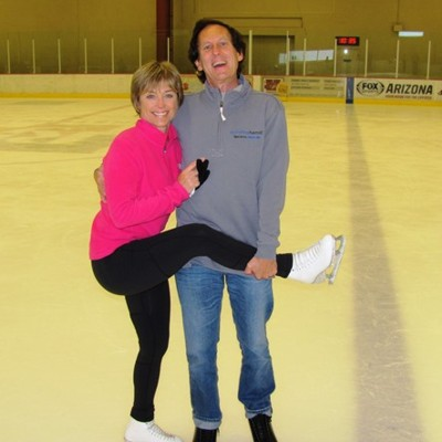 Stan with Dorothy on ice